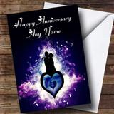 Purple Lovers Customised Anniversary Card