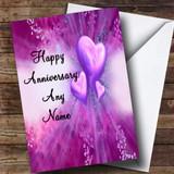 Purple Hearts Customised Anniversary Card