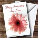 Stunning Pink Flower Customised Anniversary Card