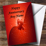 Hearts And Stars Customised Anniversary Card