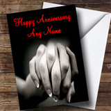 Holding Hands Customised Anniversary Card