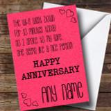 Wife Seems Nice No WIFI Funny Anniversary Customised Card
