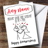Another Whole Year Mr & Mrs Anniversary Customised Card