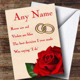 Best Thing Saying I Do Anniversary Customised Card