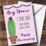 Funny You're A Prick Anniversary Customised Card