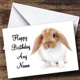 Cute Bunny Rabbit Customised Birthday Card