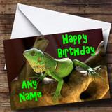 Lizard Customised Birthday Card