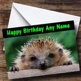 Funny Hedgehog Customised Birthday Card