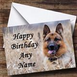German Shepherd Dog Customised Birthday Card
