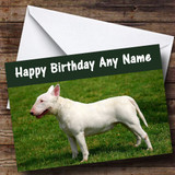 Bull Terrier Customised Birthday Card