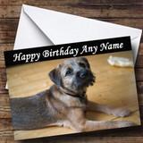 Border Terrier Dog Customised Birthday Card