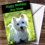 West Highland Terrier Puppy Dog Customised Birthday Card