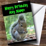 Grey Squirrel Customised Birthday Card