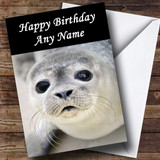 Adorable Seal Face Customised Birthday Card