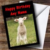 Baby Lamb Customised Birthday Card