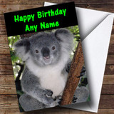 Koala Bear Customised Birthday Card