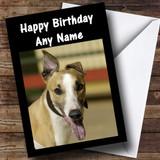 Greyhound Dog Customised Birthday Card