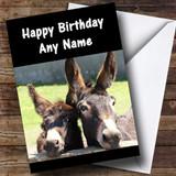 Donkeys Customised Birthday Card