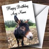 Donkey Customised Birthday Card