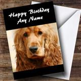 Cocker Spaniel Dog Customised Birthday Card