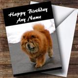 Chow Chow Dog Customised Birthday Card