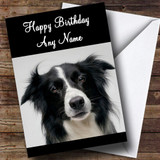 Lovely Border Collie Dog Customised Birthday Card