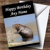 Beaver Customised Birthday Card
