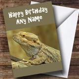 Bearded Dragon Lizard Customised Birthday Card