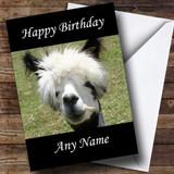 Funny Alpaca Customised Birthday Card