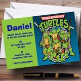 Teenage Mutant Ninja Turtles Customised Children's Birthday Party Invitations