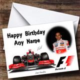 Lewis Hamilton McLaren Customised Birthday Card