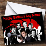 James Bond Various Customised Birthday Card