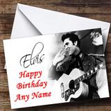 Elvis Presley Black & White Customised Birthday Card
