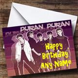 Duran Duran Customised Birthday Card