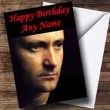 Phil Collins Customised Birthday Card
