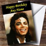 Michael Jackson Customised Birthday Card