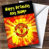 Man United Customised Birthday Card