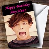 Louis Tomlinson Customised Birthday Card