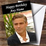George Clooney Customised Birthday Card