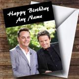 Ant & Dec Customised Birthday Card