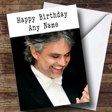 Customised Andrea Bocelli Celebrity Birthday Card