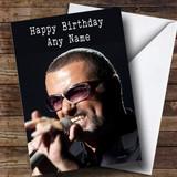 Customised George Michael Celebrity Birthday Card