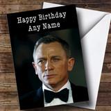 Customised Daniel Craig Celebrity Birthday Card