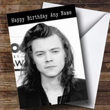 Customised Harry Styles Celebrity Birthday Card