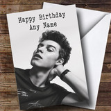 Customised Shawn Mendes Celebrity Birthday Card