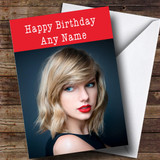 Customised Taylor Swift Celebrity Birthday Card