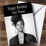 Customised Alicia Keys Celebrity Birthday Card