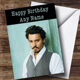 Customised Johnny Depp Celebrity Birthday Card