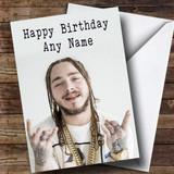 Customised Post Malone Celebrity Birthday Card