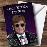 Customised Elton John Celebrity Birthday Card
